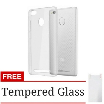 Case Softcase Ultrathin for Xiaomi Redmi 3s / 3pro / 3x - Clear +Free Tempered Glass
