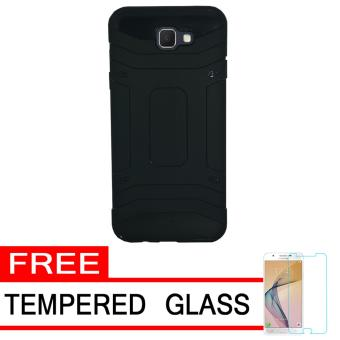 Case Tough Armor Karbon Luxury Carbon for Samsung Galaxy J5 Prime - Black + Free Tempered Glass