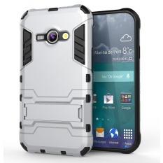 Case TPU + PC Hard Case for Samsung Galaxy J1 ACE - Silver