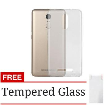 Case Ultrathin Aircase Jelly for Xiaomi Redmi Note 3 / Note 3 Pro - Clear + Gratis Tempered Glass