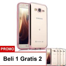 Case Ultrathin Shining Chrome Untuk Samsung Galaxy J5 Duos Lama J5 2015 Rose .