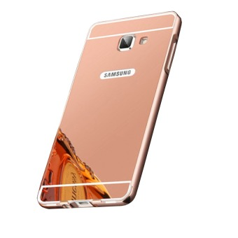 Case Untuk Samsung Galaxy A3 2016 / A310 Alumunium Bumper With Mirror Backdoor Slide- Rose