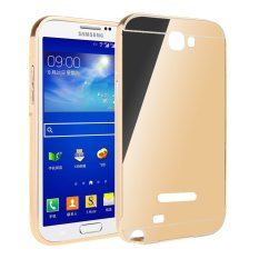 Casing Metal Bumper Mirror for Samsung Galaxy Note 1 (N7000) - Gold