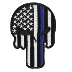 CHEER Embroidered USA Flag Police Morale Patch Armband Badge Sticker Crafts Blue&White