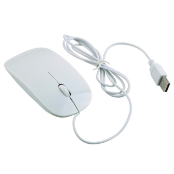 CHEER Ultra Thin USB 1600DPI Wired Optical Mouse Mice For PC Notebook Macbook MAC