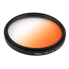 CHEER Universal 58mm Filters Circo Mirror Lens Gradient UV For DSLR Camera Lens Orange