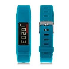 Classic Buckle Wristband Replacement Bracelet Silicon Strap For Garmin Vivofit 2 (Blue) - Intl