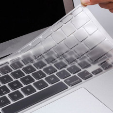Clear Silicone Keyboard Cover Skin For EU UK Version Macbook Pro Air 1.15 17
