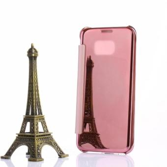 Clear View Flip Cover Softcase Casing Mirror Autolock Samsung S7EDGE