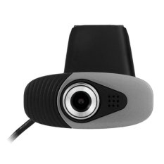Clip-on HD Web PC Camera USB Powered Webcam with 180 Degree Rotating For Computer (Black)