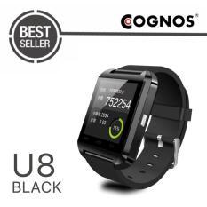 Cognos U Watch U8 Smartwatch Original - Strap Rubber - Hitam