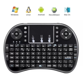 Coowalk Gaming 2.4G Mini Bluetooth Portable Wireless Keyboard withTouchpad Mouse Multi-media Handheld Android Keyboard (Black) - intl