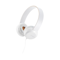 Cresyn C260H White Stereo Headphones With Mic & Volume Control