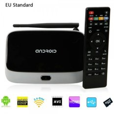 CS918 Android 4.4.4 Quad-Core RK312.1 + 8GB Bluetooth Wifi Smart TV Box Player EU Plug - Intl