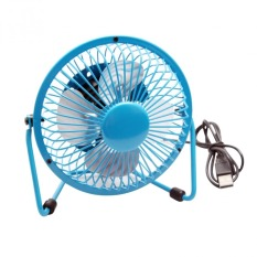 CST 6-inch 360-degree Rotating USB Powered Metal Electric Mini Desk Fan For PC / Laptop / Notebook (Blue) (Intl)