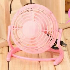 CTS Notebook Laptop Computer Portable Super Mute PC USB Cooler Desk Mini Fan (Pink) (Intl)