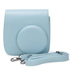 Cute Blue PU Leather Camera Case Bag For FUJIFILM Instax Mini8 Mini8s (Blue)