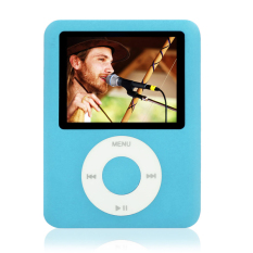 "Cyber 8GB Slim MP3 MP4 Player 1.8"" LCD Screen FM Radio Video Games Movies W78 (Blue)"