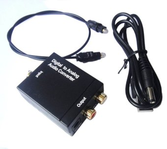 DAC RCA Audio Converter Adapter Optical Digital Coaxial Toslink Signal To Analog