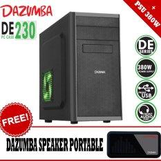 Dazumba PC Case DE-230 With PSU 380W + GRATIS Dazumba Speaker Portable AudioPAD DAG-08 - Hitam