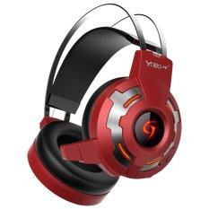 Deep Bass Gamer Headset Portable Audio Earphone (Red) - Intl