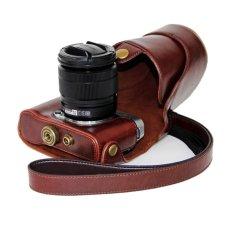 Dengpin PU Leather Camera Case For Fujifilm X-A2 X-A1 X-M1 (Coffee)