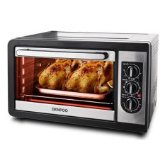 Denpoo Oven Toaster-36L, DEOS-820T, Black / Silver