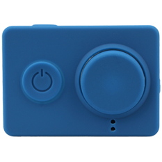 Dust-proof Silicone Cases + Lens Cap For Xiaomi Yi Sports Camera Protective Case Soft Cover For Xiao Yi Action Cameras (Dark Blue)