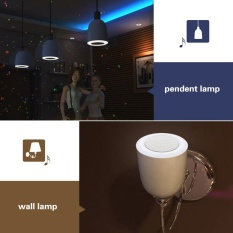 E27 LED Bulb Colorful Lamp 18 Colors Adjustable Wireless Bluetooth4.0 Speaker For IOS Android Smart Phone IMAC / PC Energy-saving MusicPlayer - Intl