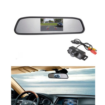 Eaglerich 5.0 Inch Car Dvr Mirror Camera Recorder Night Vision Rearview Mirror Monitor Car Camera Full Hd 1080p Dual Lens Blackbox