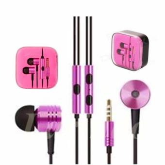 Earphone Handsfree Headset Xiaomi Piston Big Bass Mi 2nd Generation- Pink