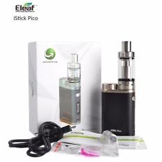 Eleaf iStick Pico 75W - Garansi 1 tahun - Vape Starter Kit + Atomizer Melo III Mini Vapor - Hitam