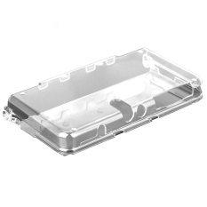 Elenxs Crystal One-piece Plastic Case Shell Skin For Nintendo 3DS New Clear