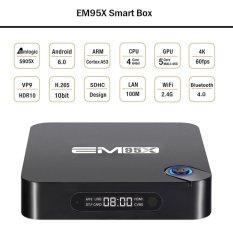EM95X Android 6.0 TV Box Amlogic S905X Quad Core 64bit 2GB / 16GB KODI16.0 XBMC UHD 4K*2K60fps Mini PC WiFi DLNA Airplay Miracast Bluetooth 4.0 Media Player EU Plug - Intl