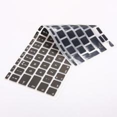EU UK Silicone Keyboard Skin Protector Cover Guard For Apple Macbook Air11inch 11.6inch Black (Intl)