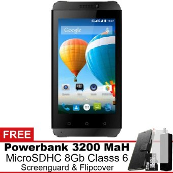 Evercoss Winner T3 4G LTE 8 GB Hitam Gratis Powerbank