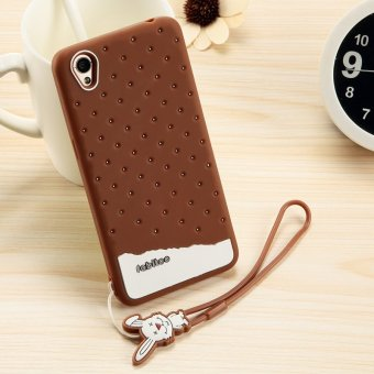 ... Fabitoo Cute Ice Cream Silicone Back Cover Case For OPPO A37 With Lanyard