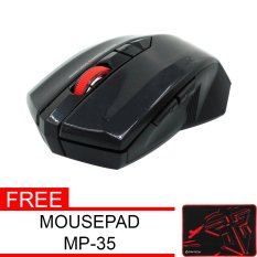 Fantech Mouse Wireless Gaming WG7- Hitam Gratis Fantech Mousepad Gaming MP35