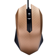 Fashion 1000 DPI USB Wired Optical Gaming Mice Mouse For PC Laptop Gold - Intl