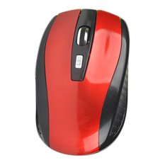 Fashion 2.4GHz Optical Mice Cordless Wireless Mouse USB Receiver (Red) - Intl