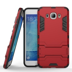 Fashion Hybrid Kickstand Rugged Rubber Armor Hard PC+TPU 2 In 1 With Stand Function Cover Cases for Samsung Galaxy J7 2016 / J710 - intl