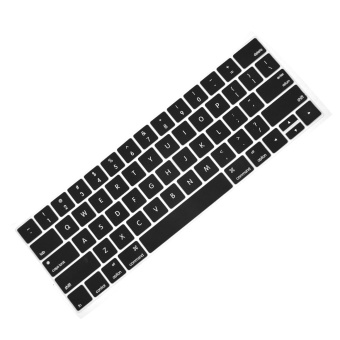 Fashion Portable Keyboard Cover Silicone Skin Washable Protectorfor MacBook Pro with Touch Bar Model 13inches or 15inches 2016Release MacBook Pro A1706 A1707 Black - intl