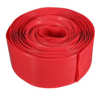 Flat Wide 29.5MM Φ18.5MM Round 5M PVC Heat Shrink Tubing For 18650 18500 Battery (Red)