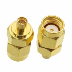 Fliegend 1pce RP-SMA Male Jack To MMCX Female Jack RF Coaxial Adapter Connector