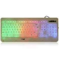 Forev FV - L6 103-Key Colorful USB Wired LED Backlight Keyboard (WHITE)