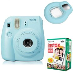 Fujifilm Instax Mini 8 Instant Camera (Blue) + Fuji White Edge Instant 20 Film + Close-up Lens