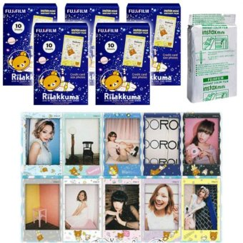 Fujifilm Instax Mini Rilakkuma Space Instant 50 Film For Fuji 7.8 2.50.70 90 / Polaroid 300 Instant Camera / Share SP-1 Printer