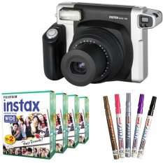 Fujifilm Instax WIDE 300 Instant Camera + WIDE White 80 Film (Black) + Pen