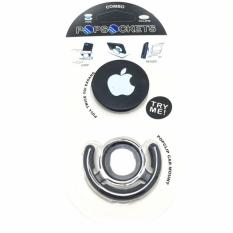 G-Smart Popsockets Logo iPhone Phone Holder + Popclip Car Mount - Black