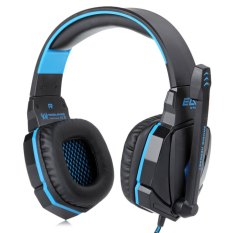 G4000 Pro Gaming Wired Headphone Noise Reduction Blue (Intl)